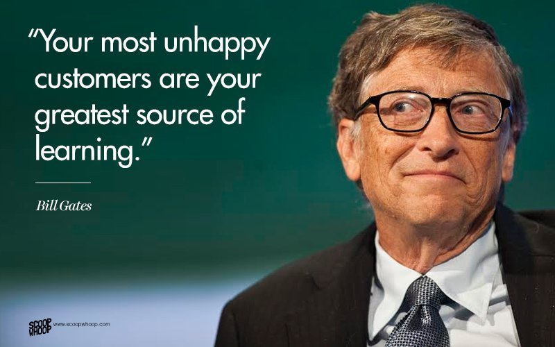 bill gates - learning from the unhappy