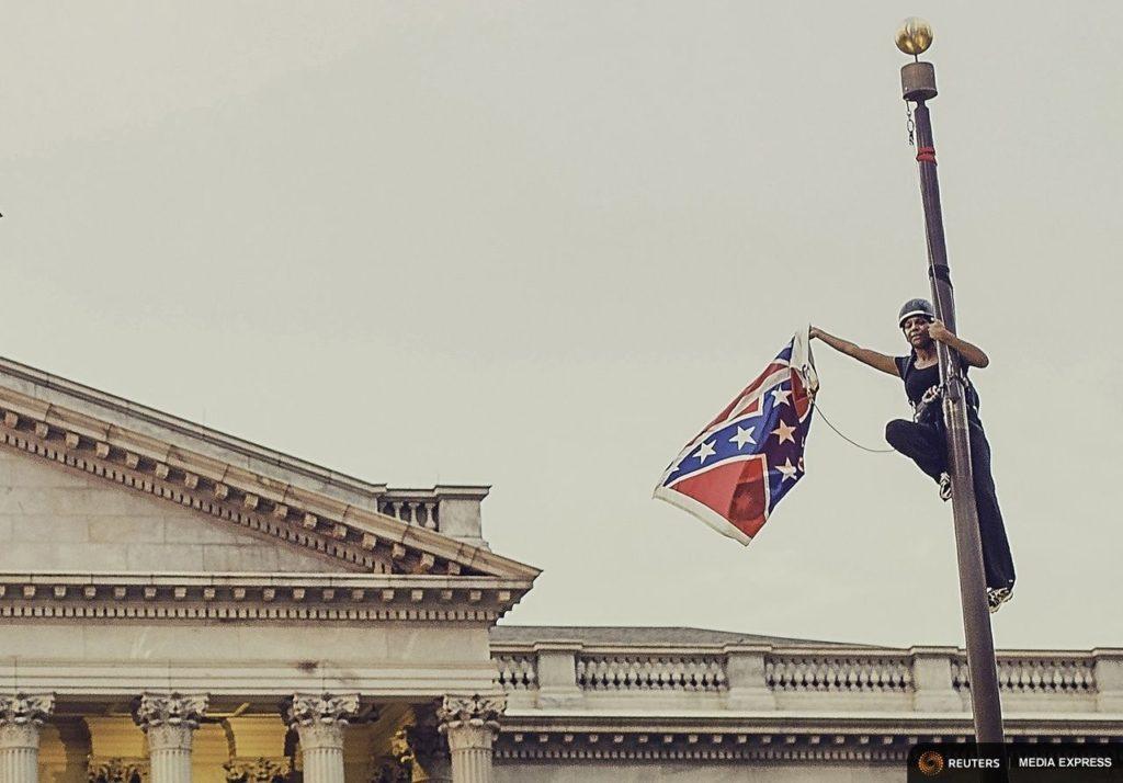 Bree Newsome Takes Confederate Flag Down