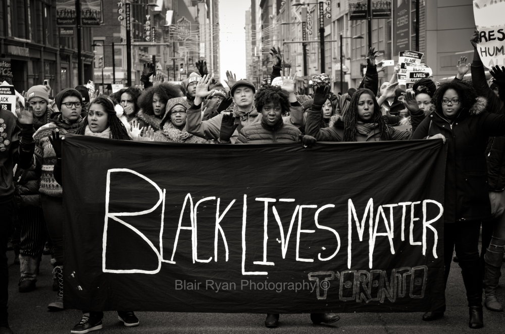 black lives matter protesters are Peaceful