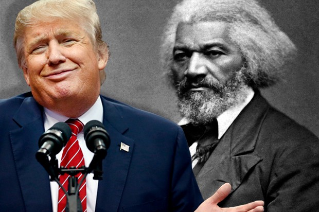 frederick douglass the only 'black' trump knows