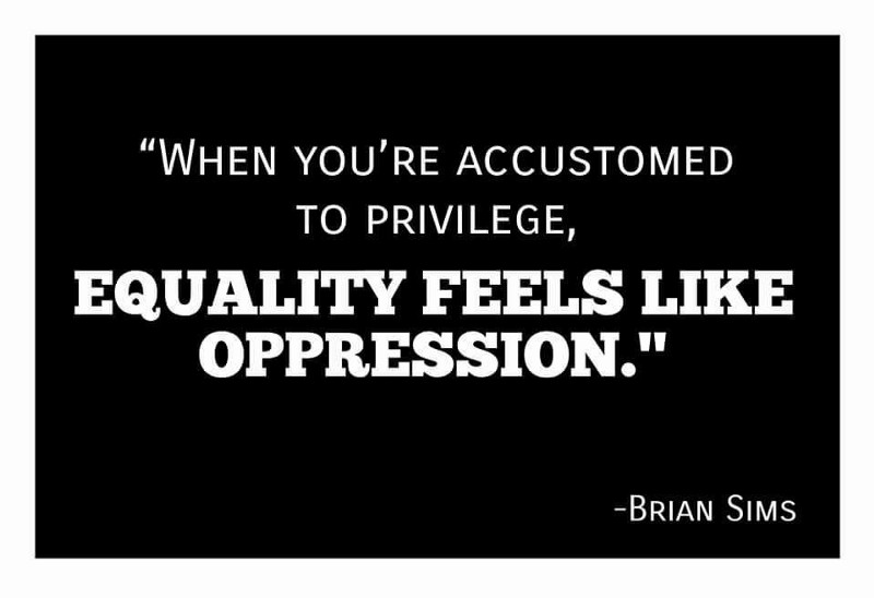 white privilege is oppression