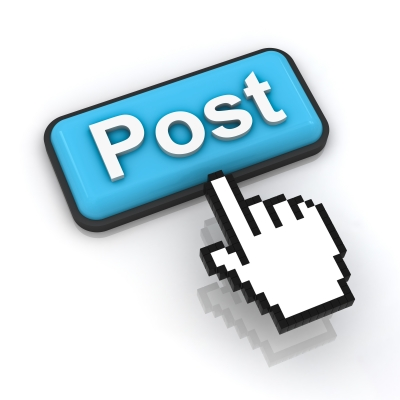 social media post button