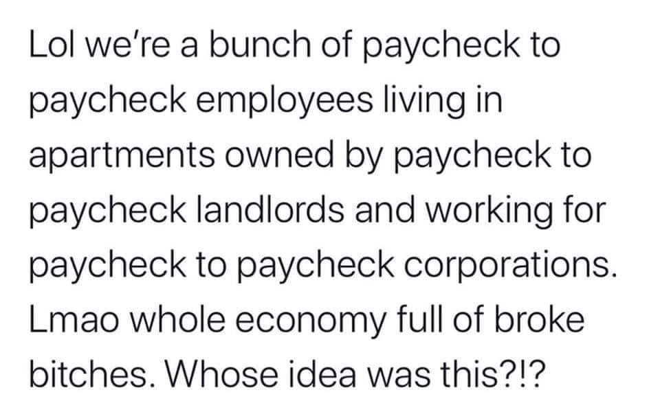 white privilege exists (paycheck to paycheck)