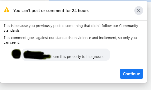 Can't say this on facebook while Black
